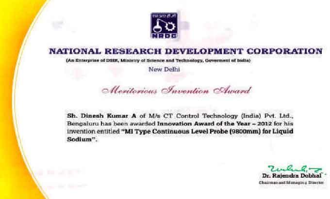 NRDC - Innovation Award of the Year 2012